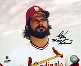 "Al Hrabosky St. Louis Cardinals with ""The Mad Hungarian"" Autographed (Hand Signed Collectable) Photo"