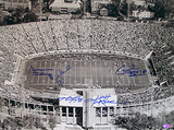 Alabama Legends Multi Signed Stadium Overhead B/W Horizontal Photo