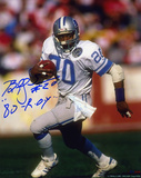 Billy Sims Detroit Lions with 80 ROY Inscription Autographed Photo (Hand Signed Collectable) Photo