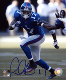 Plaxico Burress New York Giants - Running Autographed Photo (Hand Signed Collectable) Photo