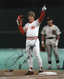 Pete Rose - Cincinnati Reds 4192 Hit Signed Picture with 4192 Hit Inscription Photo
