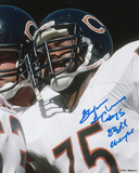 Stefan Humphries Chicago Bears with SB XX Champs Inscription Photo