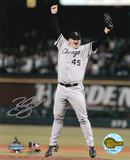 Bobby Jenks Chicago White Sox 2005 World Series Game 4 Autographed Photo (Hand Signed Collectable) Photo