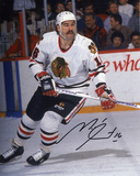 Michel Goulet Chicago Blackhawks Autographed Photo (Hand Signed Collectable) Photo