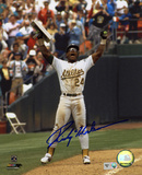 Rickey Henderson Oakl& Athletics - Record Breaking Steal Autographed Photo (H& Signed Collectable) Photo