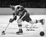 Gordie Howe Detroit Red Wings B&W with Mr. Hockey 9  Autographed Photo (Hand Signed Collectable) Photo