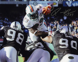 Ronnie Brown Miami Dolphins Autographed Photo (Hand Signed Collectable) Photo