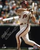 Mike Schmidt Philadelphia Phillies - Batting Autographed Photo (Hand Signed Collectable) Photo