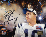 Peyton Manning Indianapolis Colts - SB Confetti Shot Photo