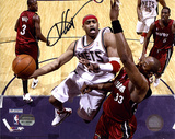 Vince Carter New Jersey Nets - Layup vs. Heat Autographed Photo (Hand Signed Collectable) Photo