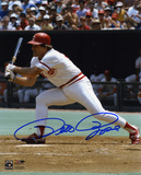 Pete Rose Cincinnati Reds - Swinging Autographed Photo (Hand Signed Collectable) Photo
