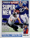 "Brandon Jacobs Daily News ""Super Men"" Cover Re-Print Photo"