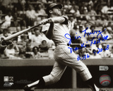 Jim Lonborg Boston Red Sox with Mantle Last HR Inscription Photo