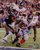 Ahmad Bradshaw Super Bowl XLVI Game Winning TD &quot;Fall Into Endzone&quot; Signed Vertical Photo