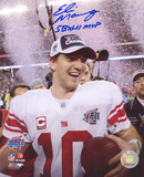 Eli Manning New York Giants - SB Confetti with Super Bowl XLII MVP Inscription Photo