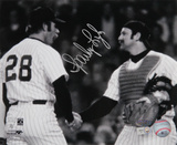 Sparky Lyle Handshake with Thurman Munson Horizontal Fotografa