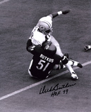 Dick Butkus Chicago Bears -Tackling- with HOF 79 Inscription Photo