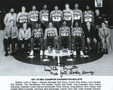 Dick Motta Washington Bullets with The Fat Lady Sang  Autographed Photo (Hand Signed Collectable) Photo