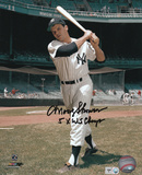 Moose Skowron New York Yankees with 5x WS Champs Inscription Photo
