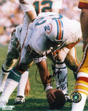 Jim Langer Miami Dolphins with HOF 17-0 Inscription Photo