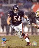 Brian Urlacher Chicago Bears - Snow Autographed Photo (Hand Signed Collectable) Photo
