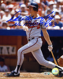 Dale Murphy Atlanta Braves - Action with NLMVP 82-83 Inscription Photo