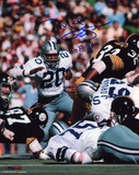 Mel Renfro Dallas Cowboys - Action with HOF 96 Inscription Photo