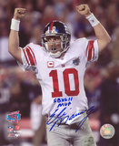 Eli Manning New York Giants - Super Bowl Celebration with SB XLII MVP Inscription Photo