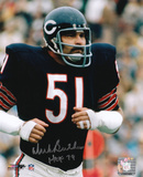 Dick Butkus Chicago Bears - Running with HOF 79 Inscription Photo