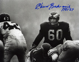 Chuck Bednarik Philadelphia Eagles with HOF 67 Inscription Photo