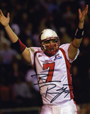 Ben Roethlisberger Miami University Redhawks - Arms in Air in White Jersey Photo