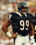 Dan Hampton Chicago Bears with HOF 2002 Inscription Photo
