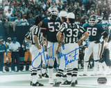 Harry Carson New York Giants with Giants Inscription Photo