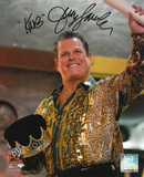 Jerry Lawler - Pose with The King Inscription Autographed Photo (Hand Signed Collectable) Photo