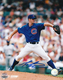 Mark Prior Chicago Cubs Blue Jersey Autographed Photo (Hand Signed Collectable) Photo
