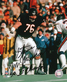 Steve McMichael  Chicago Bears with SB XX Inscription Photo
