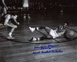 Marques Haynes with HOF 98 and World Greatest Dribbler Inscriptions Photo