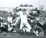 Dick Butkus Chicago Bears - Goal Line Stand - B&W Autographed Photo (Hand Signed Collectable) Photo