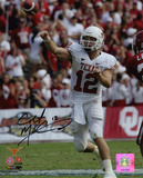 Colt McCoy Texas Longhorns Releasing Ball Photo