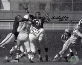 Dick Butkus Chicago Bears with HOF 79 Inscription Photo