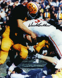Dick Butkus Illinois Fighting Illini - Tackling in Blue Jersey Photo