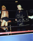 Bobby Heenan with The Brain Inscription Photo