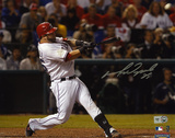 Mike Napoli Texas Rangers 2011 World Series Autographed Photo (Hand Signed Collectable) Photo