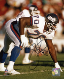 Leonard Marshall New York Giants - 3 Point Stance Autographed Photo (Hand Signed Collectable) Photo