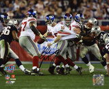 Eli Manning New York Giants - Super Bowl XLII Scramble Autographed Photo (Hand Signed Collectable) Photo