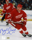 Brett Hull Detroit Red Wings Autographed Photo (Hand Signed Collectable) Photo