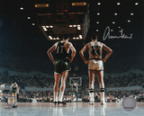 Jerry West Los Angeles Lakers vs. Boston Celtics Autographed Photo (Hand Signed Collectable) Photo