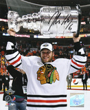 Jordan Hendry Chicago Blackhawks with 10 Champs Inscription Photo