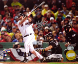 Kevin Youkilis Boston Red Sox - Hitting Autographed Photo (Hand Signed Collectable) Photo