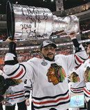 Dustin Byfuglien Chicago Blackhawks 2010 Stanley Cup with 10 Cup Inscription Photo
